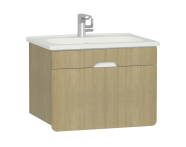 58132 - D-Light Washbasin Unit, 70 cm, Natural Oak