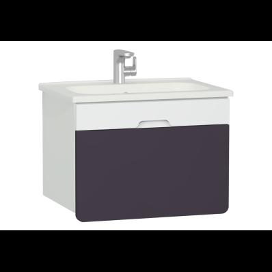 D-Light Washbasin Unit, 70 cm, Matte White & Purple
