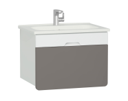 58134 - D-Light Washbasin Unit, 70 cm, Matte White & Mink