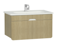 58136 - D-Light Washbasin Unit, 90 cm, Natural Oak