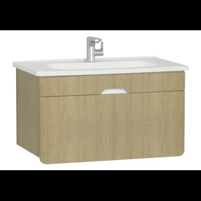 D-Light Washbasin Unit, 90 cm, Natural Oak