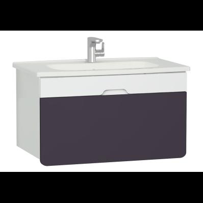 D-Light Washbasin Unit, 90 cm, Matte White & Purple