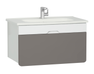 58138 - D-Light Washbasin Unit, 90 cm, Matte White & Mink