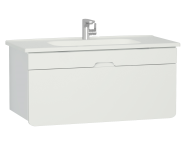 58139 - D-Light Washbasin Unit, 110 cm, Matte White