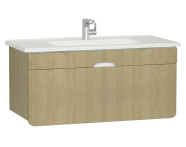 58140 - D-Light Washbasin Unit, 110 cm, Natural Oak