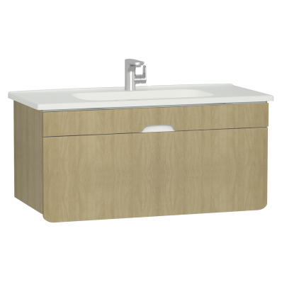 D-Light Washbasin Unit, 110 cm, Natural Oak