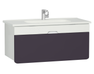 58141 - D-Light Washbasin Unit, 110 cm, Matte White & Purple