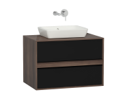58175 - Metropole 80 cm Washbasin Unit, 2 Drawer, Plum