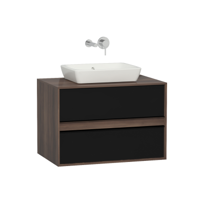 Metropole 80 cm Washbasin Unit, 2 Drawer, Plum