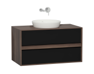 58177 - Metropole 100 cm Washbasin Unit, 2 Drawer, Plum
