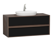 58179 - Metropole 120 cm Washbasin Unit, 2 Drawer, Plum