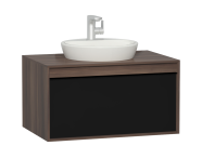 58187 - Metropole 80 cm Washbasin Unit, 1 Drawer, Plum
