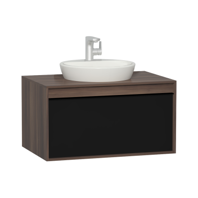 Metropole 80 cm Washbasin Unit, 1 Drawer, Plum