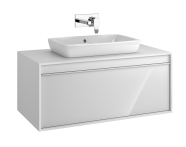 58190 - Metropole 100 cm Washbasin Unit, 1 Drawer, White High Gloss