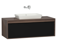 58191 - Metropole 120 cm Washbasin Unit, 1 Drawer, Plum