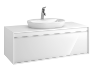 58192 - Metropole 120 cm Washbasin Unit, 1 Drawer, White High Gloss