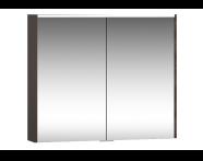 58211 - Metropole Mirror Cabinet 80 cm, Plum