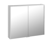 58212 - Metropole Mirror Cabinet 80 cm, White High Gloss