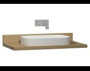58266 - Memoria Black Counter, 100 cm, Waved Oak