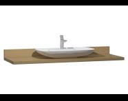 58268 - Memoria Black Counter, 160 cm, Waved Oak