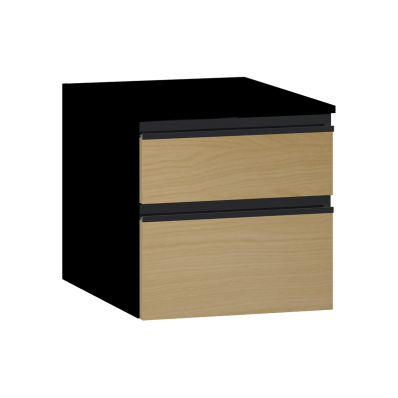 Memoria Black Sub-Module, 40 cm, Waved Oak