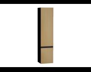 58278 - Memoria Black Tall Unit, Right, Waved Oak