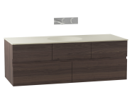 58356 - Memoria Washbasin Unit, Including Ceramic Washbasin, 120 cm, Chestnut