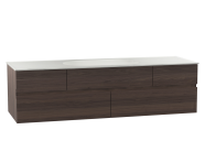 58364 - Memoria Washbasin Unit, 150 cm (Ceramic Washbasin), Matte Walnut