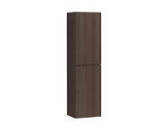 58380 - Memoria Tall Unit with Door, Matte Walnut Left