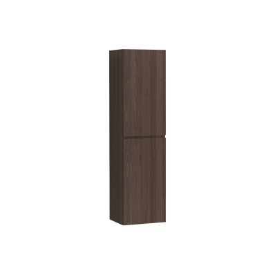 Memoria Tall Unit with Door, Matte Walnut Left