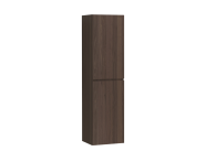 58382 - Memoria Tall Unit with Door, Matte Walnut, Right