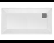 58570001000 - T90 160x90 Rectangular Zero Surface Shower Tray