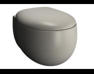 5885B420H0075 - Memoria Rim-Ex Wall-Hung WC Pan, 54 cm,Matte Taupe