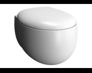 5885B420H0090 - Memoria Rim-Ex Wall-Hung WC Pan, 54 cm,Matte Taupe