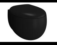5885B483H0075 - Memoria Rim-Ex Wall-Hung WC Pan, 54 cm,Matte Black