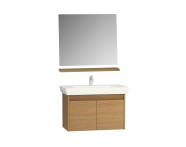 58903 - Step Demonte Washbasin unit 85 cm + washbasin + shelf + classic mirror