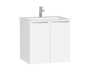 58925 - Central Washbasin Unit with doors, 60 cm, White High Gloss, Infinit Washbasin