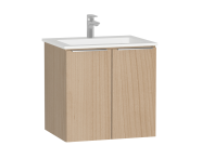 58926 - Central Washbasin Unit with doors, 60 cm, Golden Cherry, Infinit Washbasin