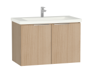 58928 - Central Washbasin Unit with doors, 90 cm, Golden Cherry, Ceramic Washbasin