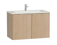 58930 - Central Washbasin Unit with doors, 90 cm, Golden Cherry, Infinit Washbasin