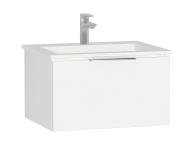 58933 - Central Washbasin Unit with 1 drawer, 60 cm, White High Gloss, Infinit Washbasin