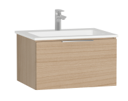 58934 - Central Washbasin Unit with 1 drawer, 60 cm, Golden Cherry, Infinit Washbasin