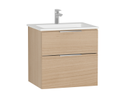 58942 - Central Washbasin Unit with 2 drawers, 60 cm, Golden Cherry, Infinit Washbasin