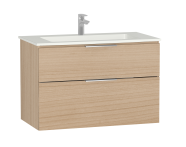 58946 - Central Washbasin Unit with 2 drawers, 90 cm, Golden Cherry, Infinit Washbasin