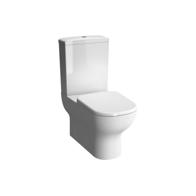 """D-Light  Back-To-Wall Close-Coupled WC Pan (without Bidet Pipe; Floor Mounted with Hole)"""