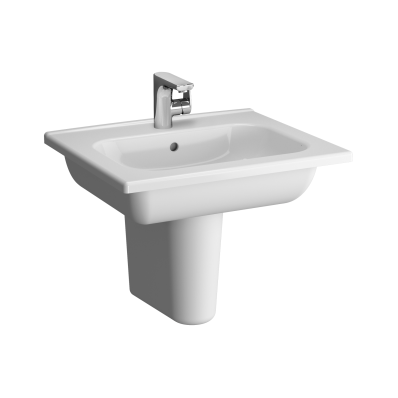 D-Light Vanity Basin, 60 cm, with Towel Holder