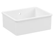 5935B003-0012 - Undercounter Sink, 55 cm, 1 bowl, without tap hole, with overflow hole, white