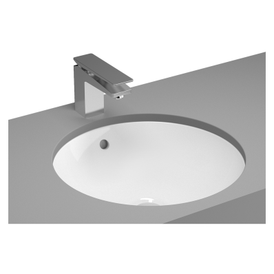 Metropole Undercounter Round Bowl, 42cm, without Tap Hole, with Overflow Hole