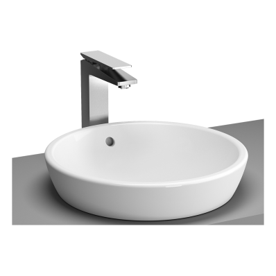 Metropole Countertop Round Bowl, 45 cm, without Tap Hole, with Overflow Hole