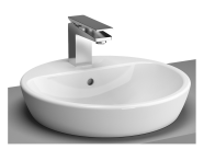 5941B003-0001 - Metropole Countertop Round Bowl, 45cm, with Tap Hole, without Overflow Hole